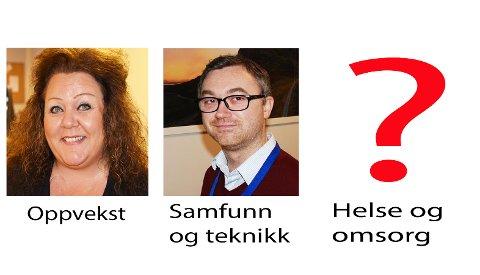 Bianca Halvorsen blir kommunalsjef for oppvekst, Håvar Berg Larsen for samfunn og teknikk, mens helse og omsorg ikke er besatt. Så langt er det tre søkere på stillingen. Søknadsfristen er 16. november.