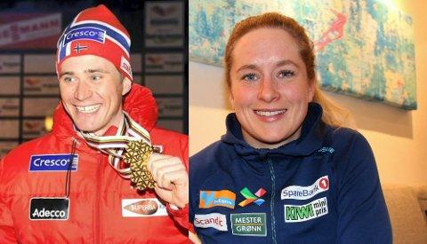 NY TRENER: OL- og VM-vinner i skisprint, Ola Vigen Hattestad (t.v), hjelper Anna Svendsen med å bli enda bedre i skisprint. Landslagsløperen er glad for enda mer spisset fokus på sine sterke sider når hun deltar på landslagssamling.