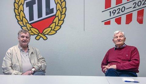 SAMLET HISTORIEN: Per Salomonsen og Hugo Anthonsen har sørget for at TIL har en statistikkdel som få andre klubber kan matche.