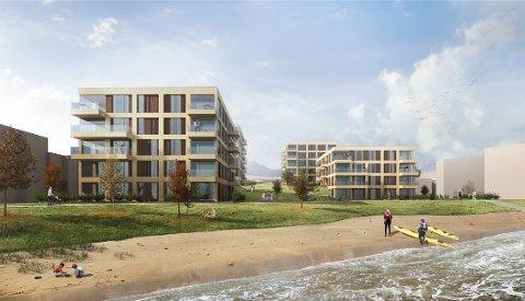 STRANDPERLE: Barlindhaug vil nå i gang med siste byggetrinn over sjøparken på Lanes.