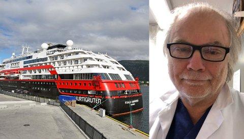 KORONAUTBRUDD: Kommuneoverlege Per Einar Jahr sier at Hurtigruten-utbruddet understreker viktigheten av å ta smittevernreglene på alvor.