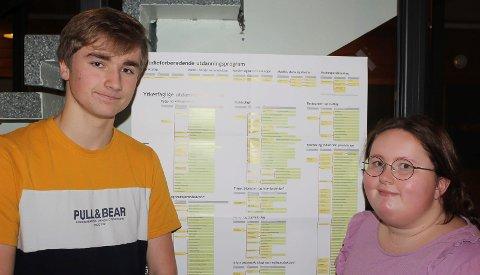 IKKE LETT: Tarjei Hovden og Mathilde Tolstad er skal snart velge studieprogram for videregående skole. Det er ikke bare enkelt.