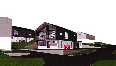 BOLIGENE: Dette er deler av boligene som skal oppføres i Brånanvegen, dersom byggefirmaet får lov.