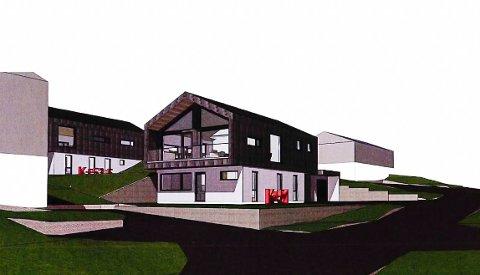 Dette er byggeprosjektet det strides om i Brånanvegen ved Heistad.