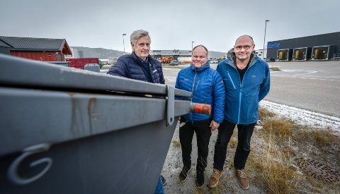 F.v. Kenneth Vonstad, Leif Sagen og Ole Tom Sjule i nabobedriftene BaRe Nord, Meyership og Arne Sjule AS har klaget dispensasjonen som er gitt til Fylkesmannen.