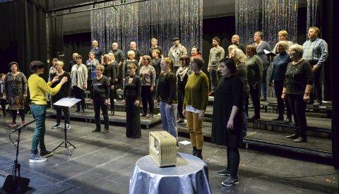 Jubilanten: Haukneskoret feirer 40-års jubileum med storstilt konsert på hovedscena på Nordland Teater.Foto: Lisa Ditlefsen