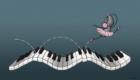 Musisk: Pianomusa var ei ryddig frøken.