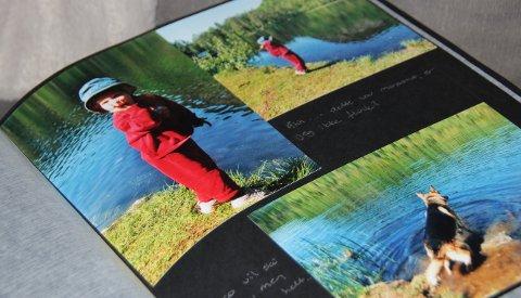 FOTOALBUM: Hvis du er usikker på hva du skal gi en person, men har mange bilder med dem, gi dem et fotoalbum da vel.