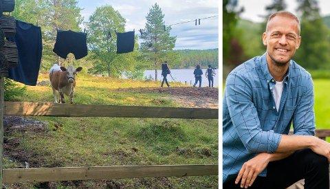 «TORPET»: «Farmen»-deltakerne som ryker ut i tvekamp kommer til Hvalssetra i Ringerike. Her kan de kjempe seg tilbake i konkurransen om å vinne «Farmen». Den ferske programlederen, Mads Hansen, blir godt kjent på Ringerike denne høsten.
