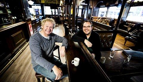 Satser videre: Jan Martinsen og Ronny Bergersen satser på en tredje Nebbenfestival, til tross for at festivalen har fått ed underskudd to år på rad. FOTO: LISBETH LUND ANDRESEN