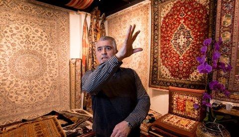 FORSØKT SVINDLET: Saeid Fashkhamis butikk, Saids tepper på Strømmen Storsenter.