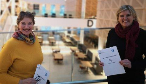 Store sirkulærvyer: Rektor ved Nord universitet Hanne Solheim Hansen og ordfører Anne Berit Lein har store vyer for InnoCamp. Det nye studiet Biobasert verdiskaping er en del av dette.