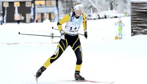 IMPONERER: Ida Emilie Herfoss fra Drangedal gikk inn til både 2- og 3. plass under norgescupen i Molde. 22-åringen var sikker på at hun fikk være med på de to siste rundene av IBU-cupen, og nedturen var stor da hun fikk nei.