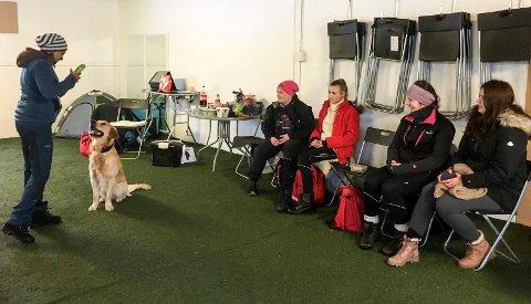 2018: Her et tilbakeblikk fra februar i fjor da det var kurs i triksing og rallylydighet i Notodden Hundeklubb.