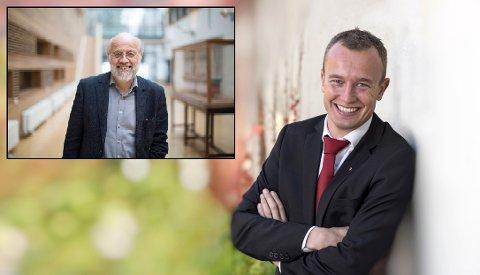 POSITIVE: Fylkesordfører Sven Tore Løkslid og USN-rektor Petter Aasen støtter ungdommene som streiker.