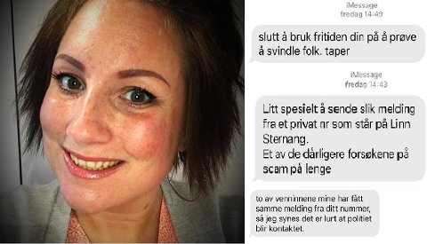 SVINDELFORSØK: Det rant inn med meldinger til Linn Sternangs tetter at mobilnummeret hennes nylig ble misbrukt i et svindelforsøk.