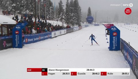 Maren Wangensteen går i mål