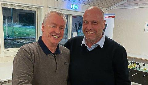 LEDERDUO: Disse to skulle styre HSV Fotball inn i fremtiden, nyansatt daglig leder Ivar Henriksen (til venstre) og styreleder Jonny Linus Halvorsen.