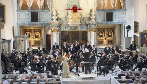 Storslått: Det har strømmet på med skryt etter at Berlinerfilharmonikerne spilte i Røros kirke.Arkivfoto: Berliner Philharmoniker
