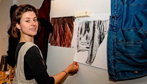 KUNST SOM AVKOBLING I STUDIETIDEN: Hanna Sofie Schou Grytli er leder for D3K, en ny kustforening for studentene ved NMBU.