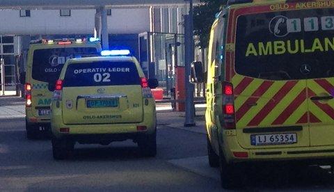 DØDE: En person er død etter et fall fra en bygning på Fornebu fredag ved 16.30-tiden.