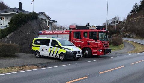UTRYKKING: Politi og brannvesen rykte ut.