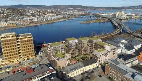 Fevang AS vil utvikle et helt kvartal på Strømsø, og bygge over 100 leiligheter.