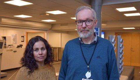 FOREBYGGING: Enhetsleder Marianne Ødegaard og kommuneoverlege Niels Kirkhus er også bekymret for antallet selvmord i Horten.