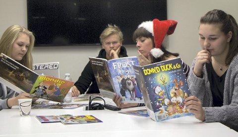 Anmelder: Årets julehefter er blitt anemeldt, og juryen har vært streng. FOTO: Martin Lønhøiden