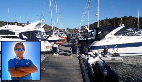 TIDENES BÅTSESONG: Nordmenn planlegger ferien i hjemlandet og de mange av de 30 milliardene vi ferier for i utlandet hver sommer blir brukt på blant annet fritidsbåt. Såvel ny som brukt. Atle Jensen (innfeldt) solgte båten sin på finn.no på bare en time.