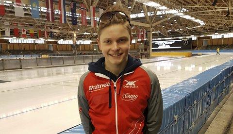 Satsar på skøyter: Sondre Buer Åsebø (15) har markert seg i skøytemiljøet dei siste åra. Neste år vil han satsa endå meir på idretten.