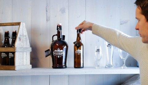 Skudenes bryggeri her representert ved Svein André Waage. Foto: Alf-Robert Sommerbakk