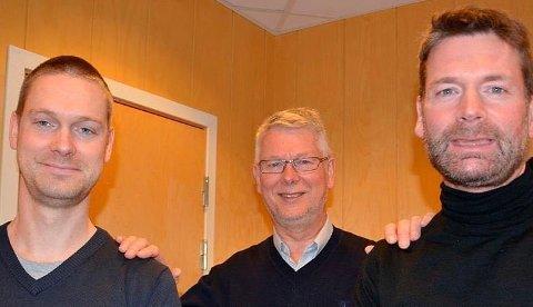 FAMILIEOVERHODET: Per Halvard Strand (midten) er rikest i Harstad. Her med sønnene Per Inge Strand (v.) og Kjetil Strand (h.).