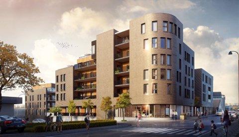 TRELASTTUNET: Dette boligprosjektet begynner å fylles opp med beboere.