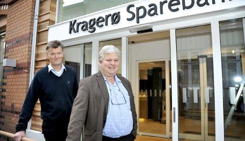 INNSPURT: – Vi blir klare til åpningen manddag, sier Kjell Meidell Andersen og Jon Guste-Pedersen.