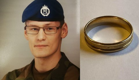 ARTIG HISTORIE: Nicolai Dalen fant denne gifteringen utenfor garasjen like før jul. Begge foto: Privat