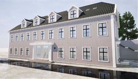 NYTT: Dette er den nye illustrasjonen av Biørnegården, også kjent som Solbekkgården, som skal være justert etter kritikk fra fylkeskommunen.