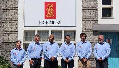 Åpner avdeling: Kongsberg Maritime åpner en avdeling i Sør-Afrika: FV: Alastair Pettie, Rune Haukom, Steve Nell, Shaun Ortell, Pierre Marais, Wojtek Kowalczyk.