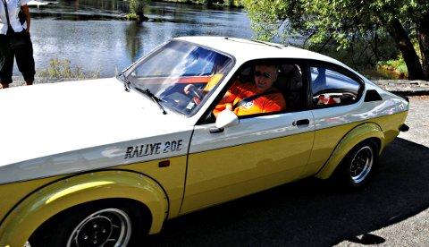 Vidar Lande deltar årlig på Kongsbergknekken med sin Opel rally-Kadett, men har ingen planer om å kjøre rundt i Norge.