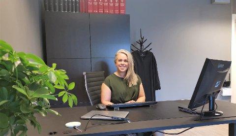 NY ADVOKAT I BYEN: Kine Fusche Jenssen åpner advokatkontor i Kongsberg 3. juli.