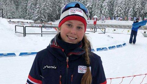 GLAD JENTE: Frida Tormodgard Dokken kunne endelig smile etter å ha sikret seg sitt første individuelle NM-gull.