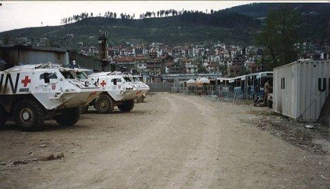 Reddet liv: De pansrede FN-ambulansene i Goražde med norsk personell i Bosnia reddet liv i tre måneder under konstant ild under Balkankrigen i 1995.