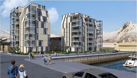 Løsning: Disse to leilighetstårnene har nå fått på plass uteområder i nærheten - og ikke inne i byen. Utbyggerne håper nå de kan gå videre i saken.