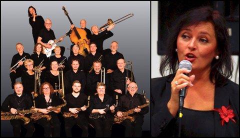 JULESVING: Moss Big Band og vokalist Elise Voll Sundbø inviterer til julekonsert i Moss kirke. (Pressefoto)
