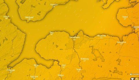 GODT OG VARMT: Grillværet blir liggende i hvert fall et par dager over Trondheim. Varmen holder seg, selv om oppholdsværet kanskje ikke gjør det.