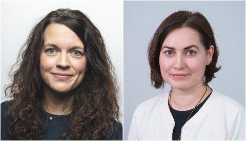 NYE SJEFER: Camilla Brekke (44, til høyre) og Kathrine Tveiterås (40) er ansatt som nye prorektorer ved UiT.