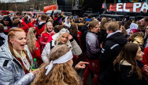 2019: Fra det foreløpig siste russetreffet som er arrangert i Lillehammer. Det ble holdt andre helga i mai 2019.