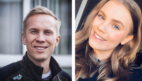 NYE JOURNALISTER: Håvard Wannebo og Linnea Jacoby Aasrum er nyansatte i ØP.