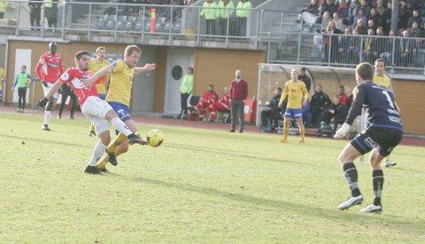 Maikel Nieves bragte KIL opp i 1-0 ledelse tidlig i første omgang. (Foto: Henning Danielsen)