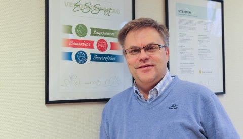 MYE ER BEDRE: Sektorleder oppvekst i Åsnes, Magne Berg, er enig i at utviklingen i Åsnes-skolene og barnehagene har vært god.  Men utfordringene er store, sier han.